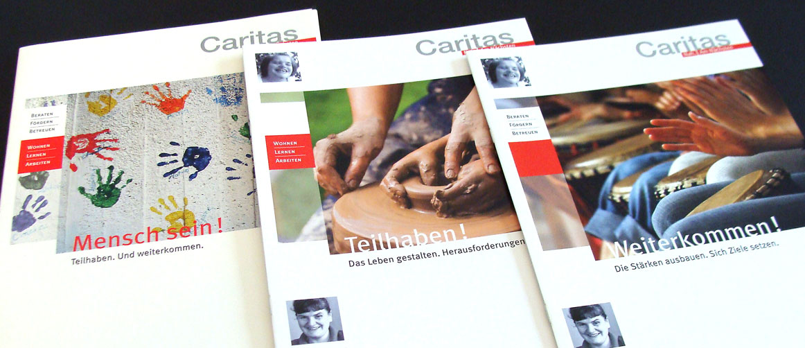 Caritas Menschen mit Behinderung Broschüren