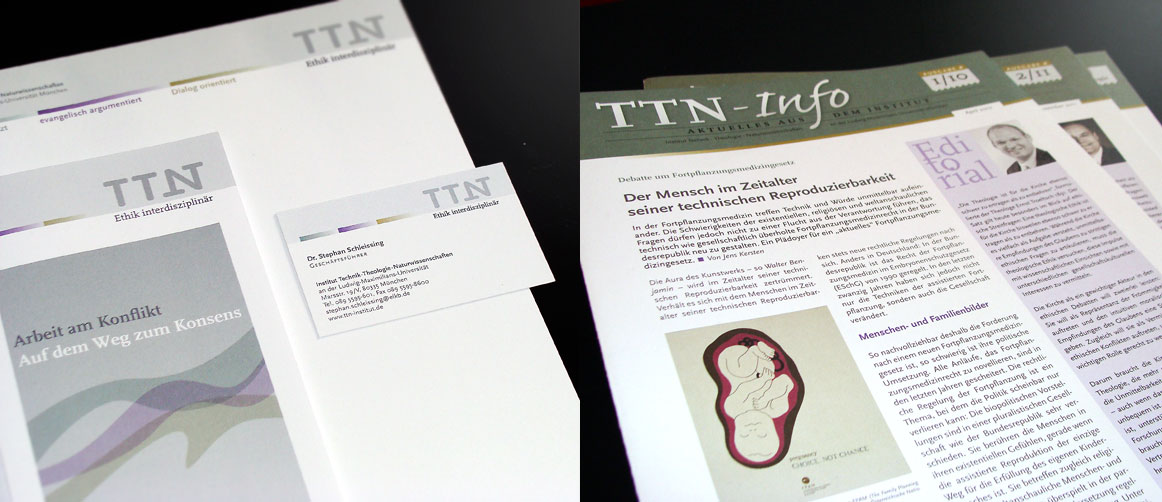 TTN-Institut Erschinungsbild und Newsletter