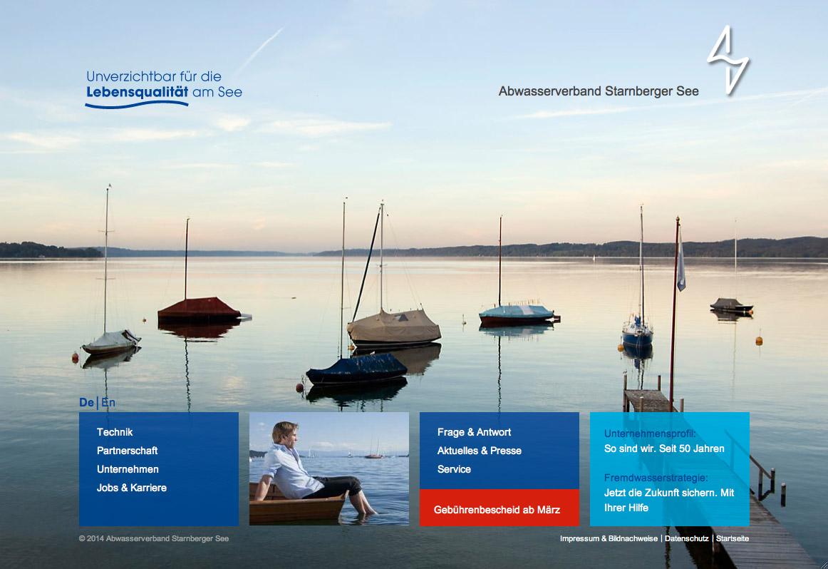 AV-Starnberger See, Startseite Website