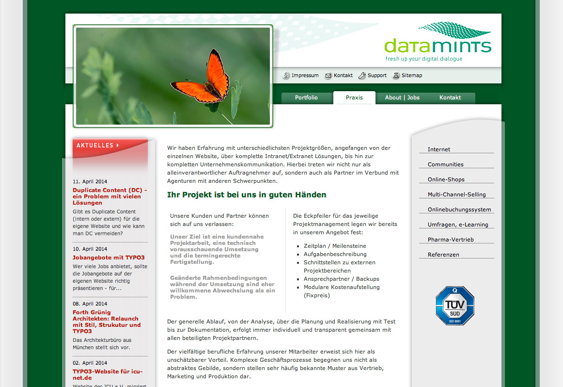 Datamints GmbH Website