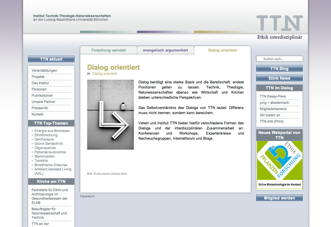 Institut TTN, Website