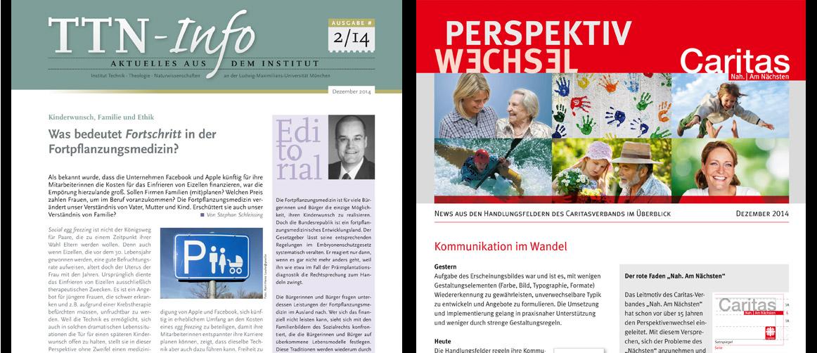 Newsletter für das TTN-Institut und für den Caritasverband München und Freising