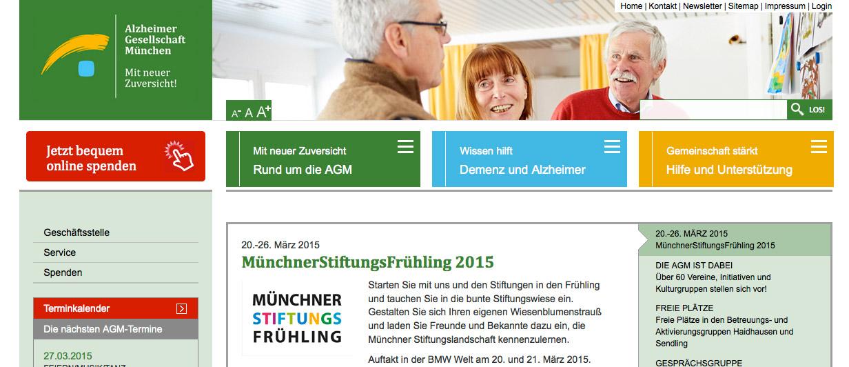 Website Alzheimer Gesellschaft München