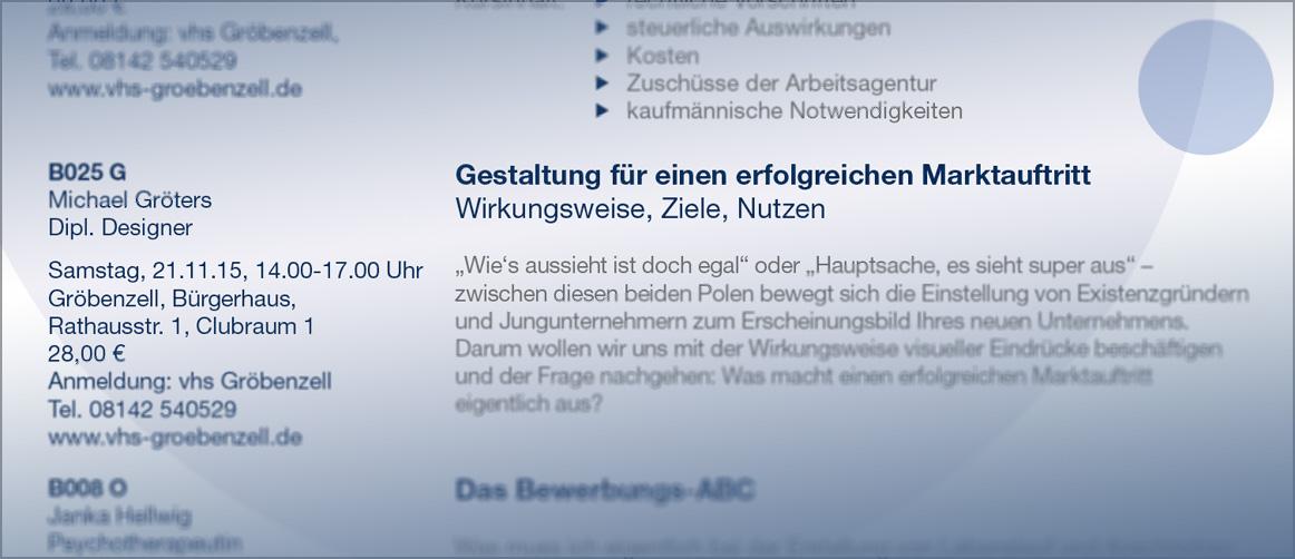 Vortrag VHS Gröbenzell
