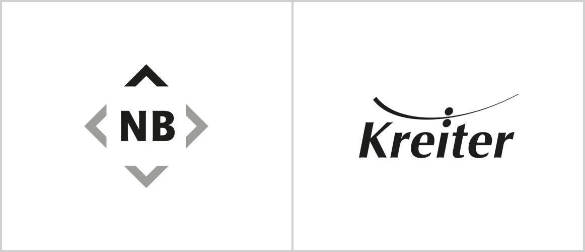 Logo-Review: Nordbau AG, Druckerei Kreiter