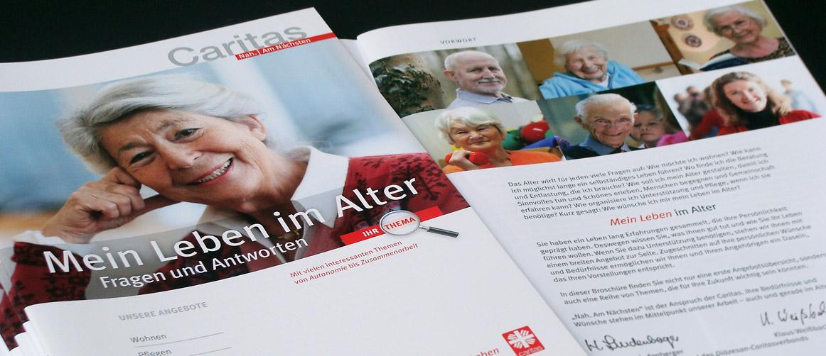 Caritas Handlungsfeld Leben im Alter Broschüre