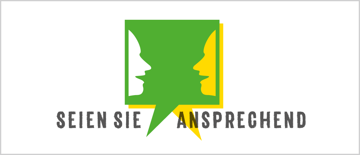 """""""Seien Sie ansprechend"""" Aktionslogo Degkwitz, Meißen"""